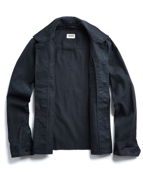 CPO Overshirt Jacket in Black