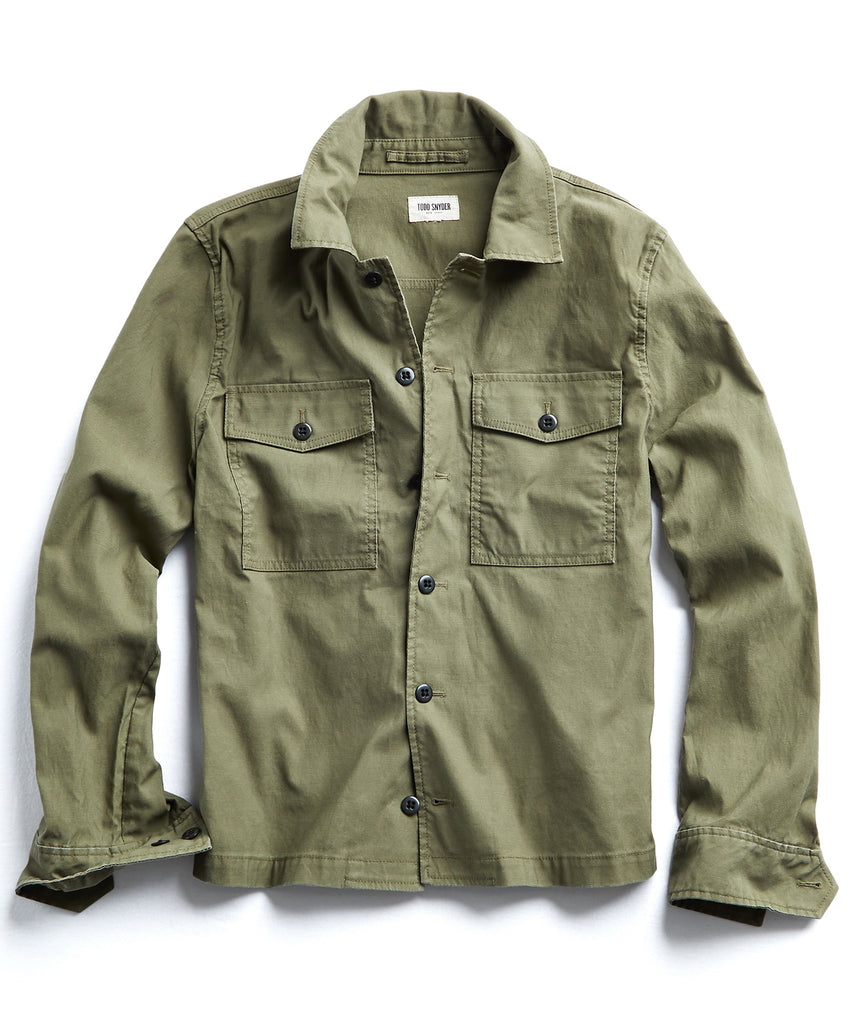CPO Overshirt Jacket in Olive