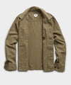 Italian Herringbone CPO Jacket in Olive