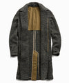 Italian Wool Fleck Topcoat in Olive