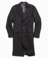Italian Cashmere Topcoat in Black