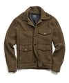 Wool Cruiser Jacket in Olive