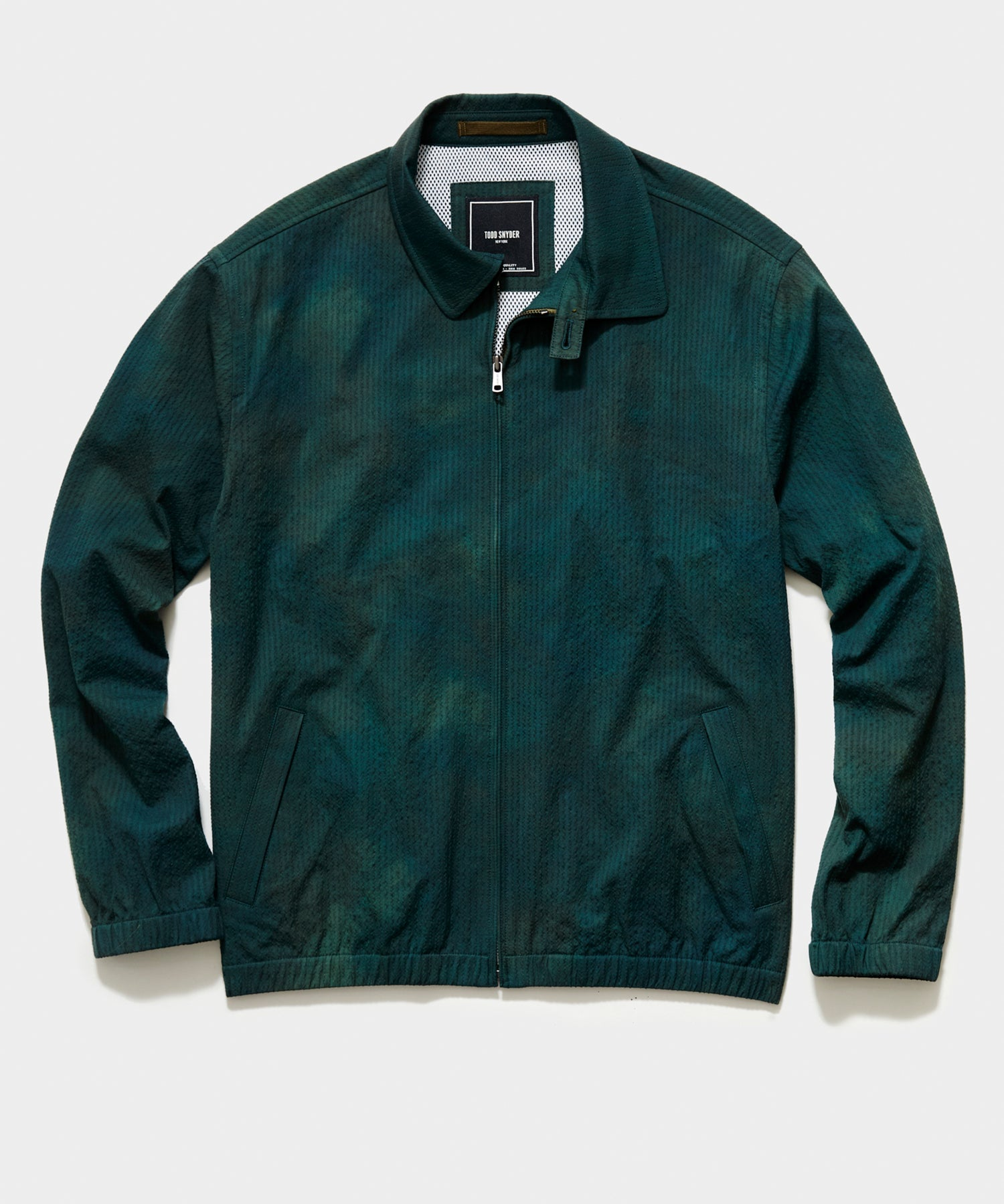 Italian Tie Dye Seersucker Club Jacket in Green