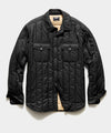 Italian Quilted Liner Jacket in Black