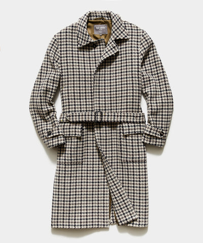 Exclusive Private White V.C. + Todd Snyder Oversized Houndstooth Topcoat in Charcoal