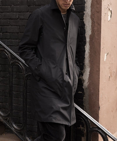 Double-face Trench Coat in Black