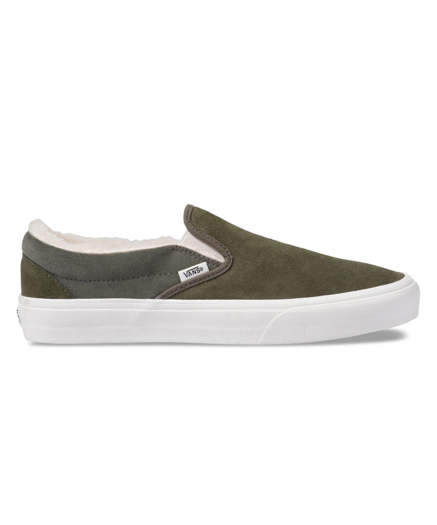 Vans Classic Slip-on in Suede/Sherpa Grape Leaf
