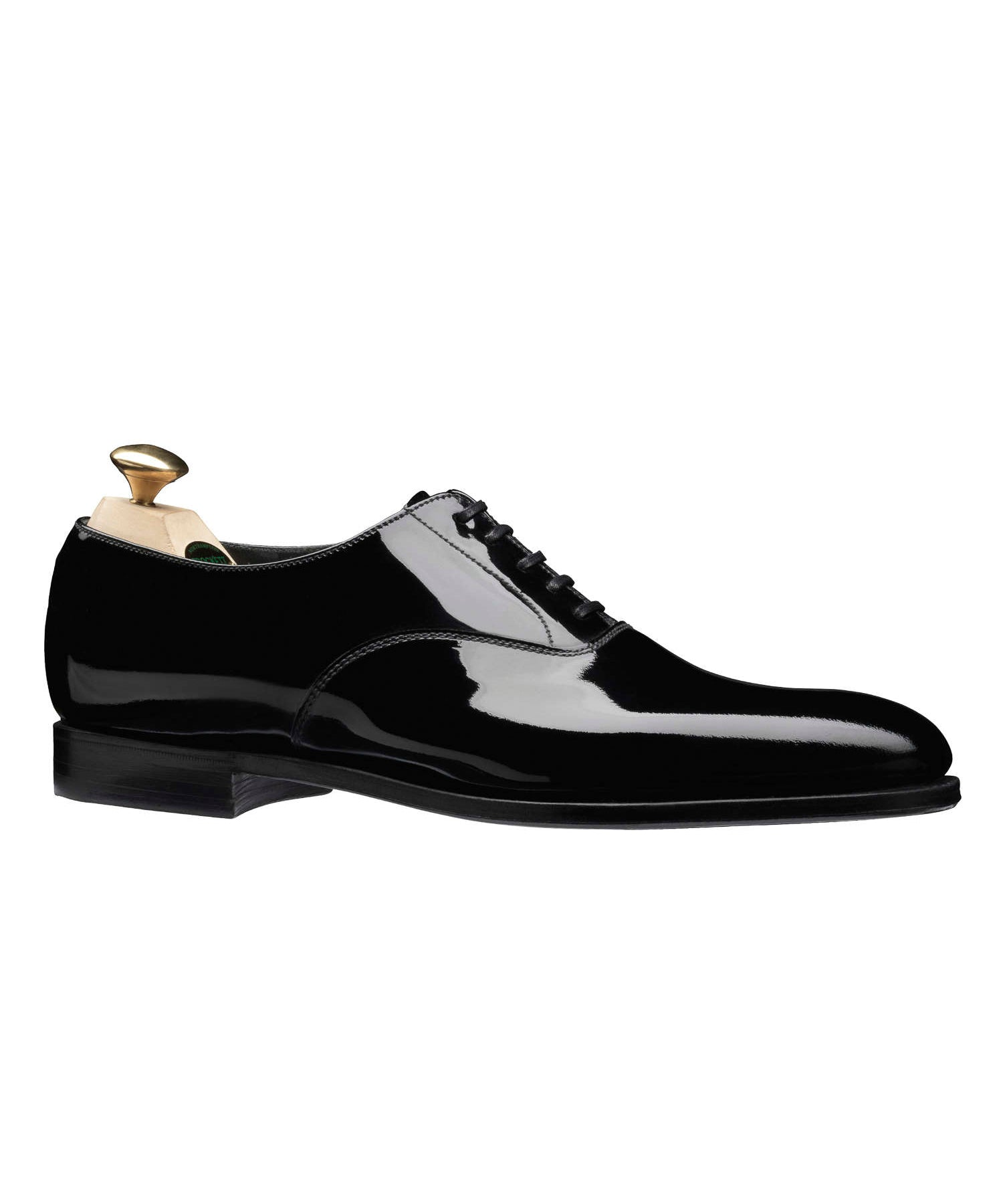 Crockett and Jones Overton Black Tie Shoe in Black