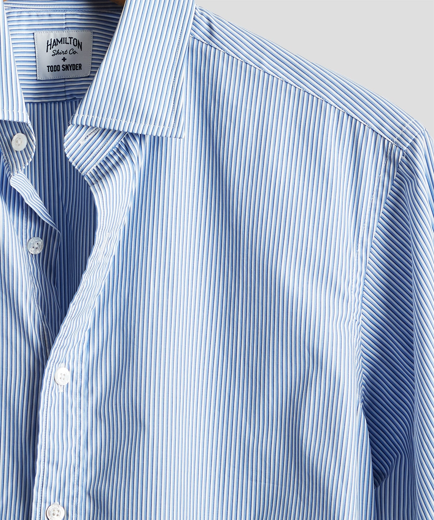 Made in USA Hamilton + Todd Snyder Blue Stripe Dress Shirt