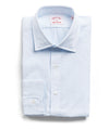 Made in the USA Hamilton + Todd Snyder White and Blue Check Poplin Dress Shirt