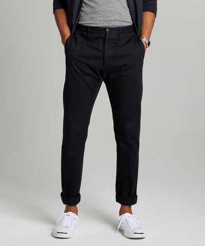 Japanese Garment Dyed Selvedge Chino in Midnight