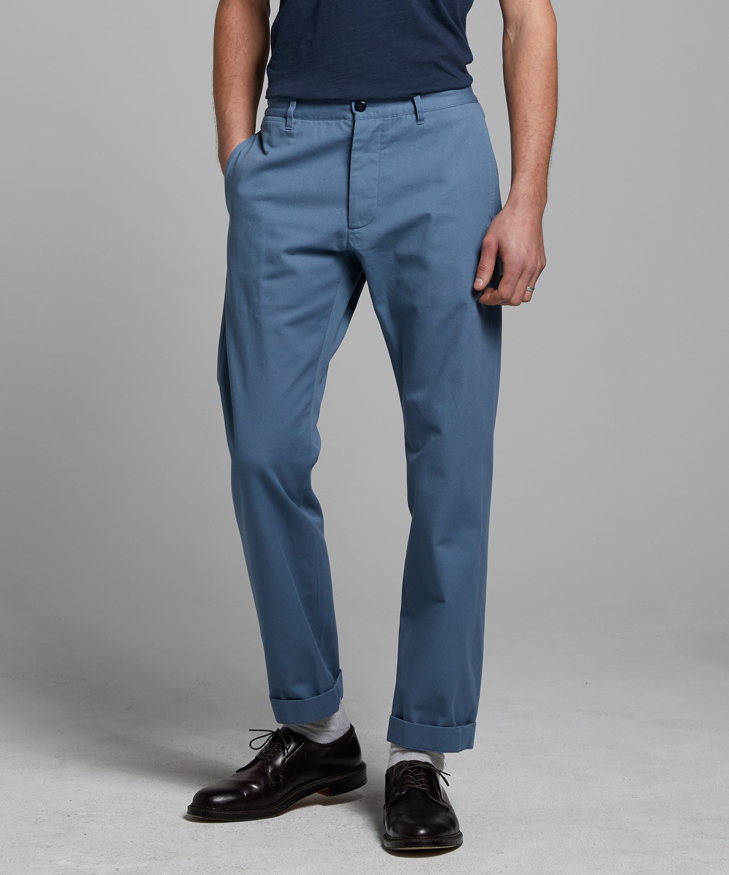 Japanese Selvedge Chino in Club Blue