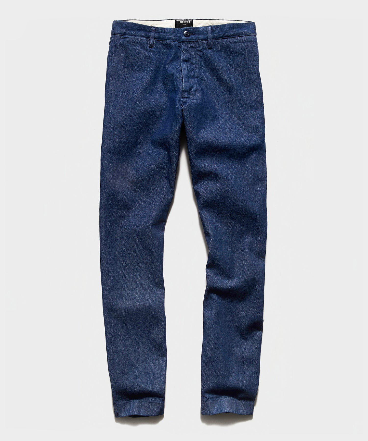 Japanese Denim Selvedge Chino in Stone Wash
