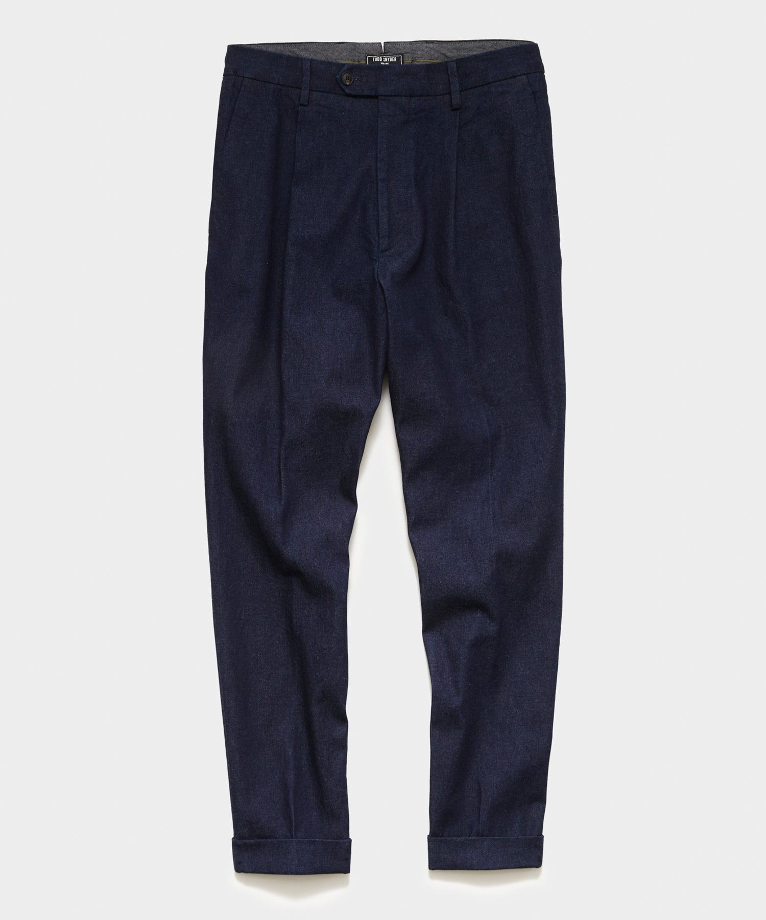 Japanese Madison Denim Pleated Pant in Indigo