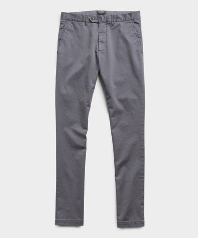 Extra Slim Fit Tab Front Stretch Chino in Charcoal
