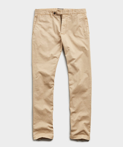 Slim Fit Tab Front Stretch Chino in Khaki