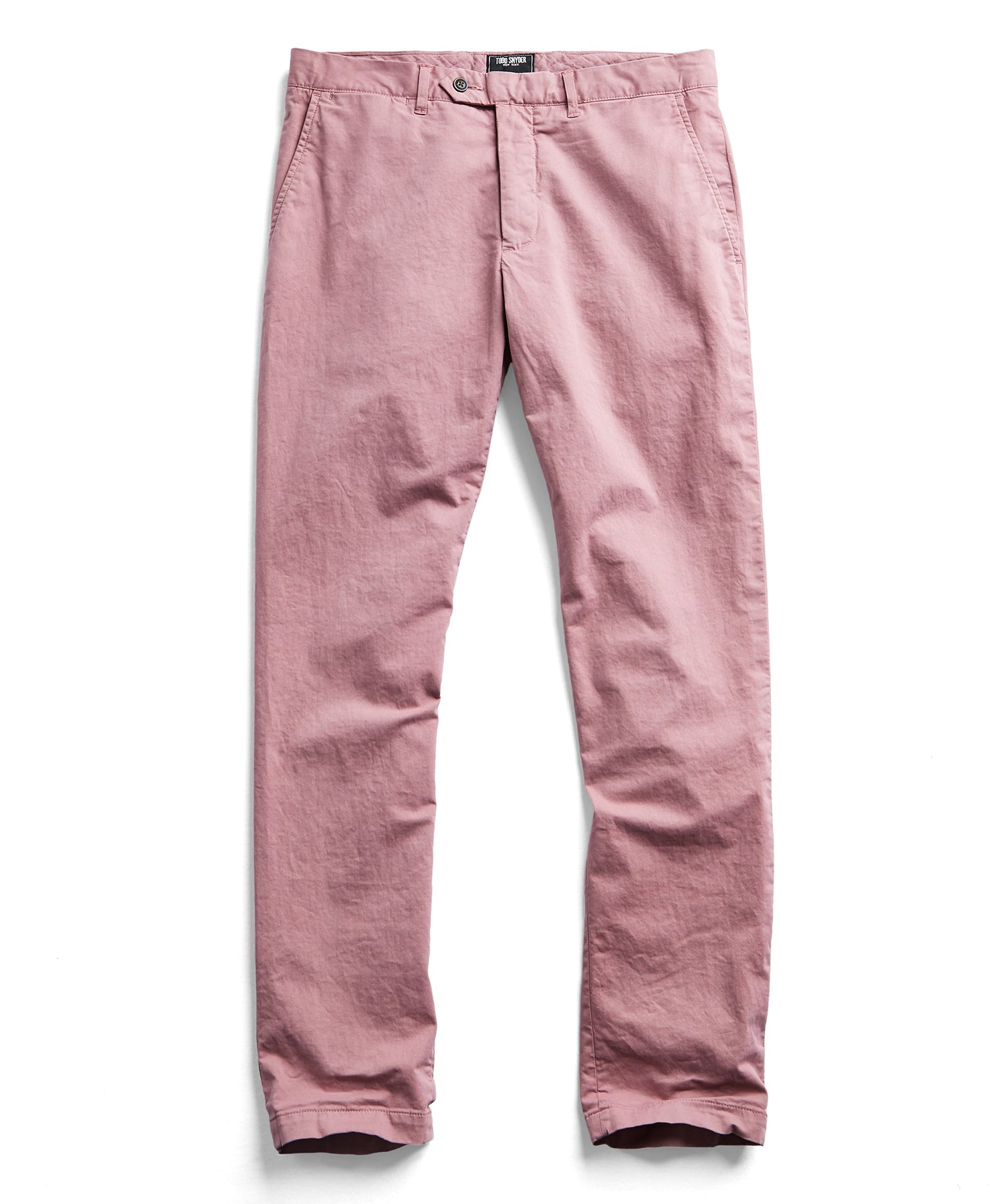 Extra Slim Fit Tab Front Stretch Chino in Rose
