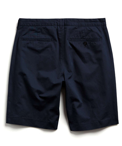 Hudson Tab-front Chino Short in Navy