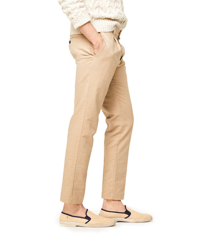 Oxford Pleated Dress Jogger in Khaki