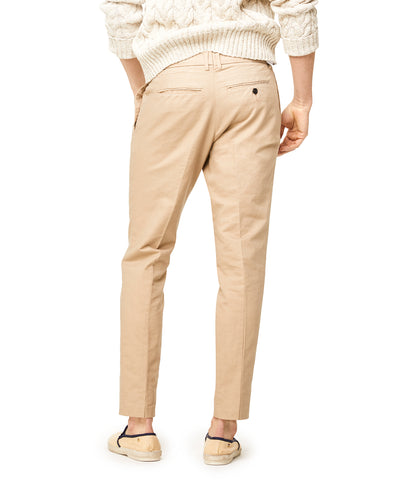 Oxford Pleated Jogger in Khaki