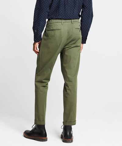 The Pleated Pant in Olive Oil