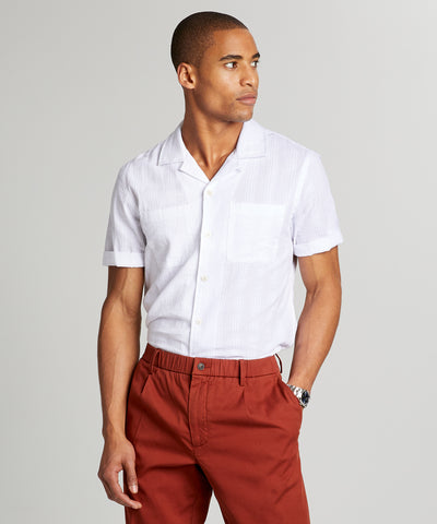 Two Pocket Maui Stripe Short Sleeve Shirt