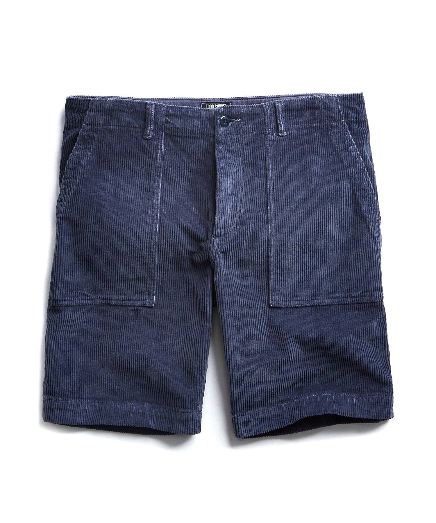 "9"" Stretch Italian Corduroy Camp Short in Navy"