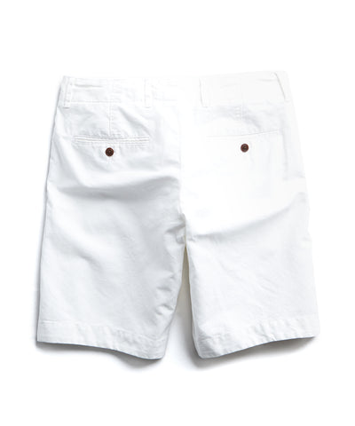 "9"" Cotton Linen Oxford Surplus Short in White"