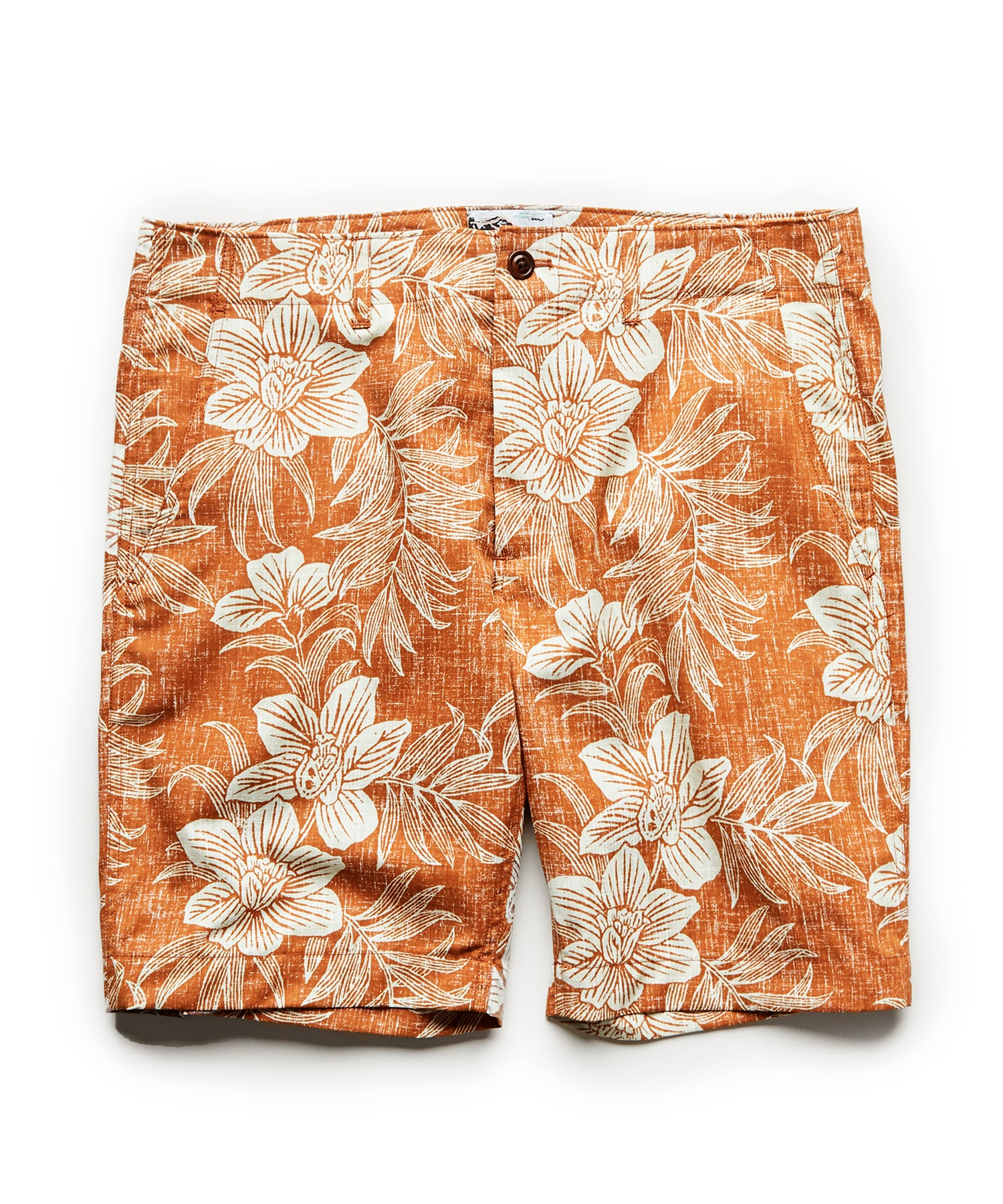 Exclusive Reyn Spooner Surplus Shorts in Rust Floral