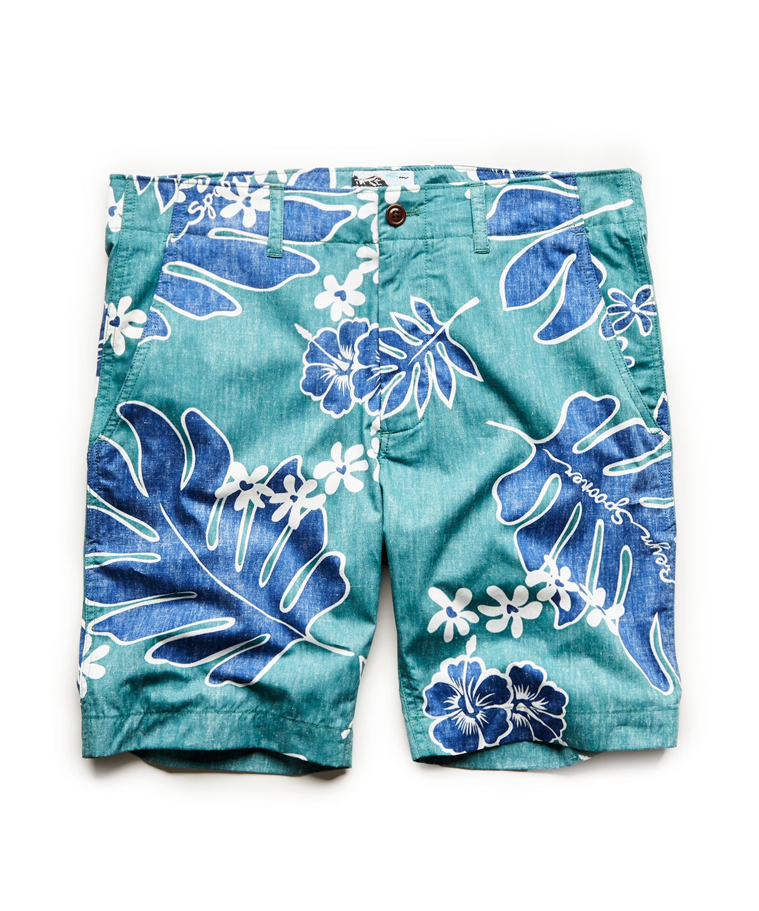 Exclusive Reyn Spooner Surplus Shorts in Green Palm