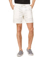 "7"" Weekend Stretch Short in Off White"