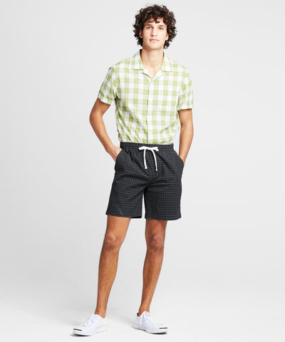 "7"" Weekend Short in Seersucker Tartan"