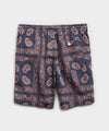 "7"" Bandana Print Weekend Short in Navy"