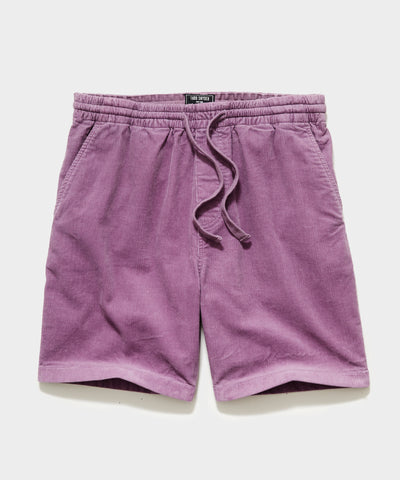 "7"" Washed Corduroy Weekend Short in Thistle"