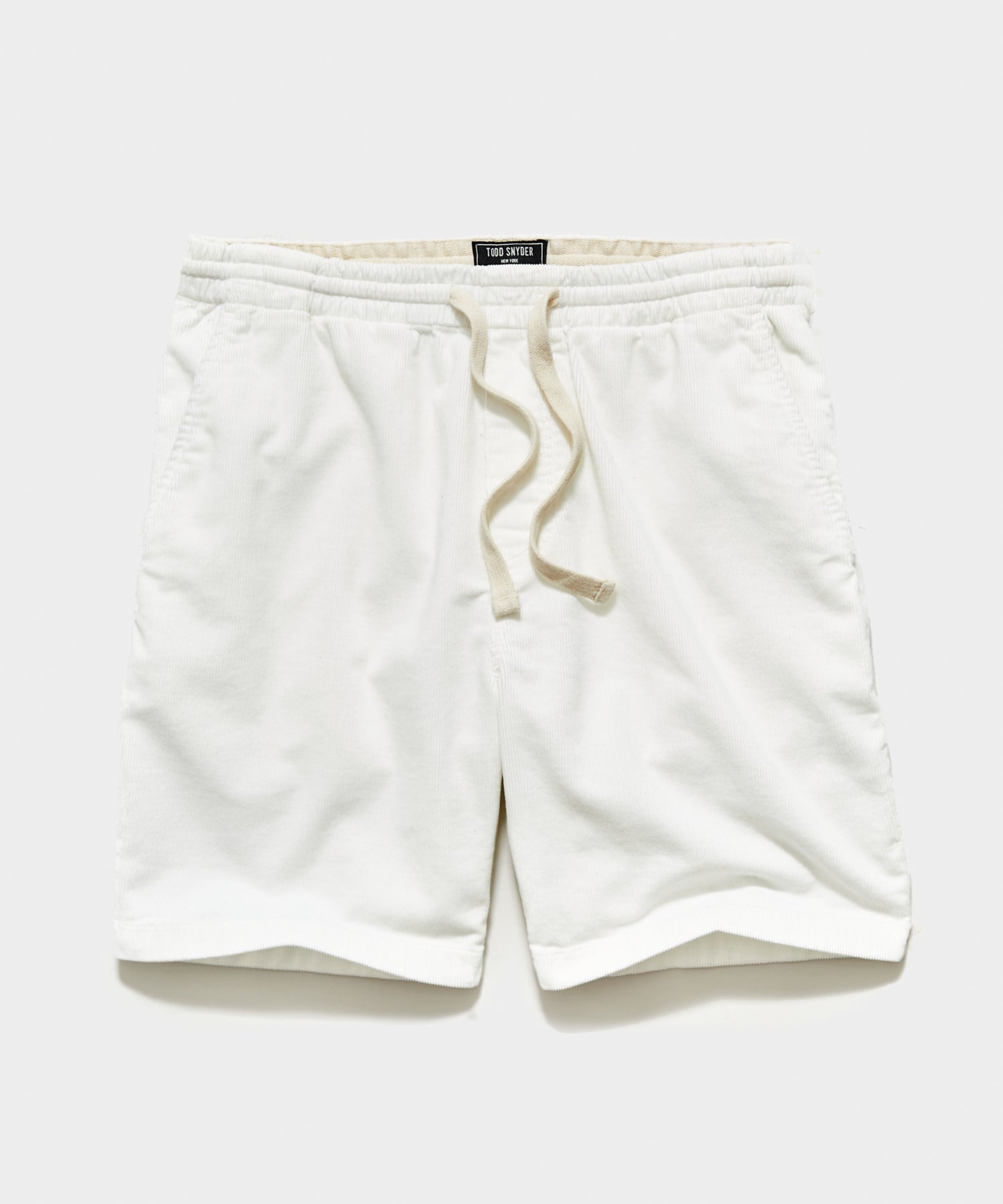 "7"" Washed Corduroy Weekend Short in Antique White"