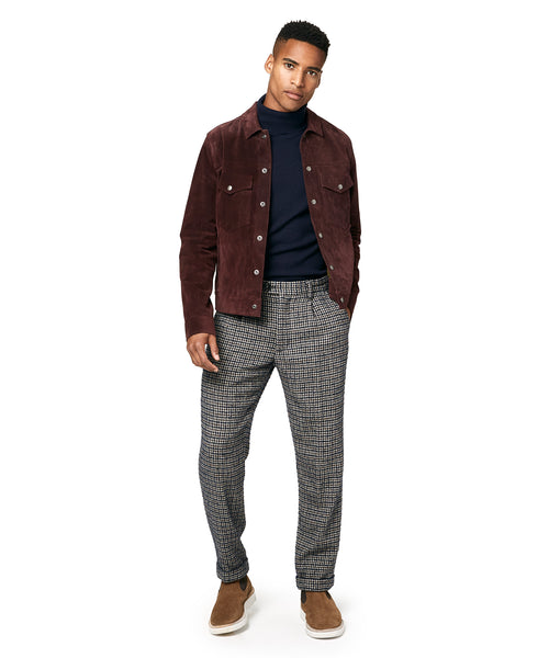 Made in New York Houndstooth Pleated Trouser