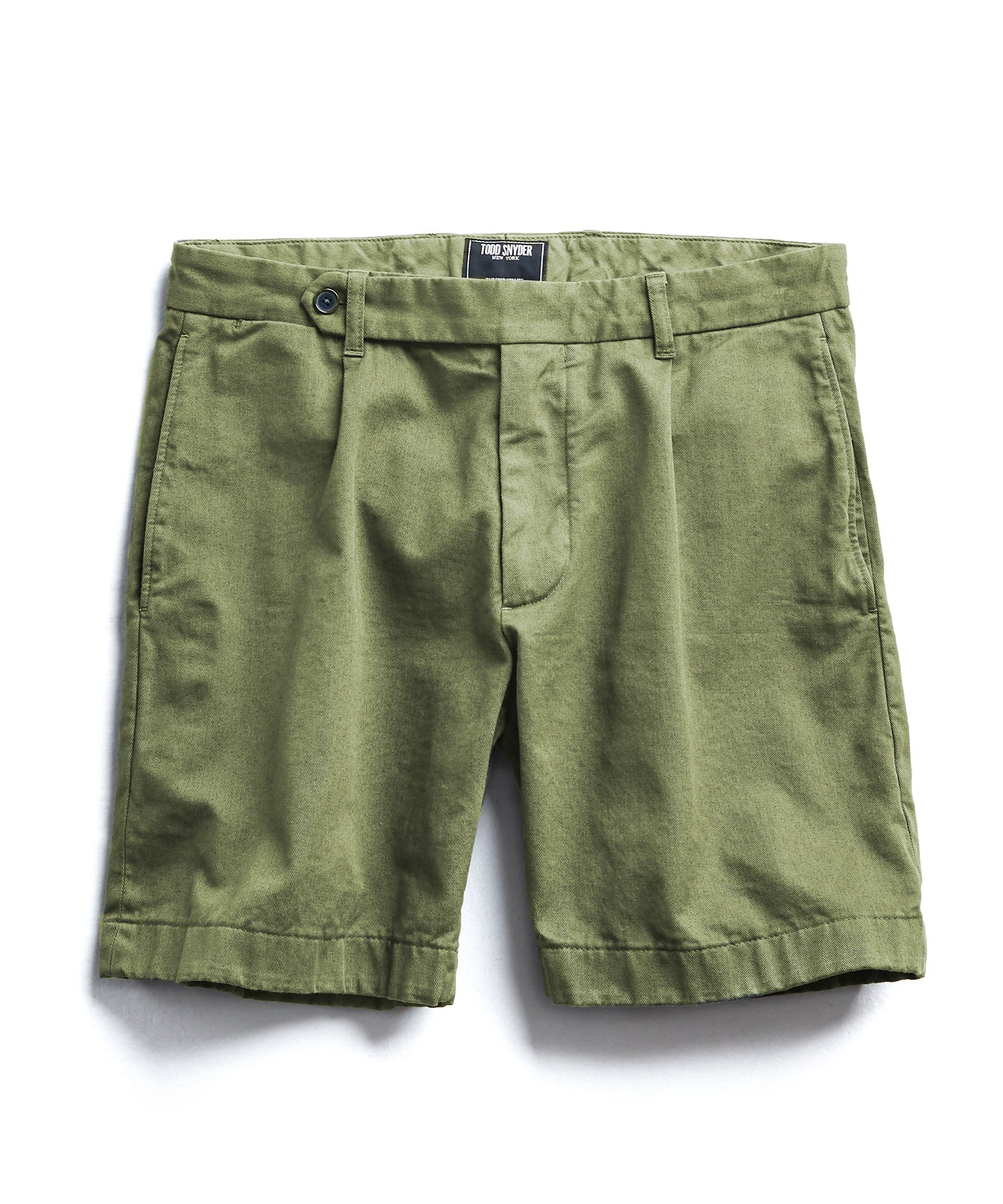 Extended Tab Selvedge Chino Short in Olive