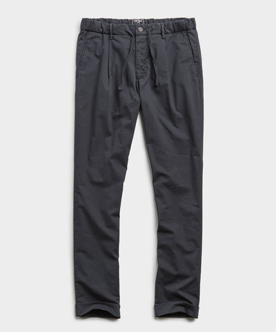 Garment Dyed Traveler Suit Trouser in Navy