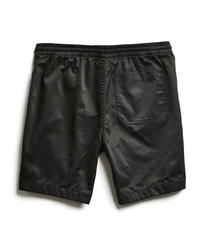 Satin Weekender Short in Black