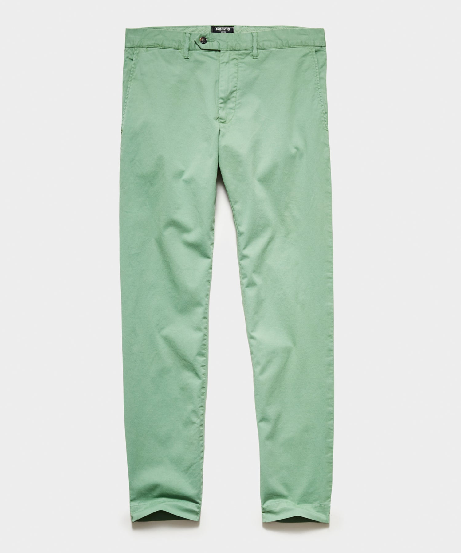 Straight Fit Tab Front Stretch Chino in Light Cactus