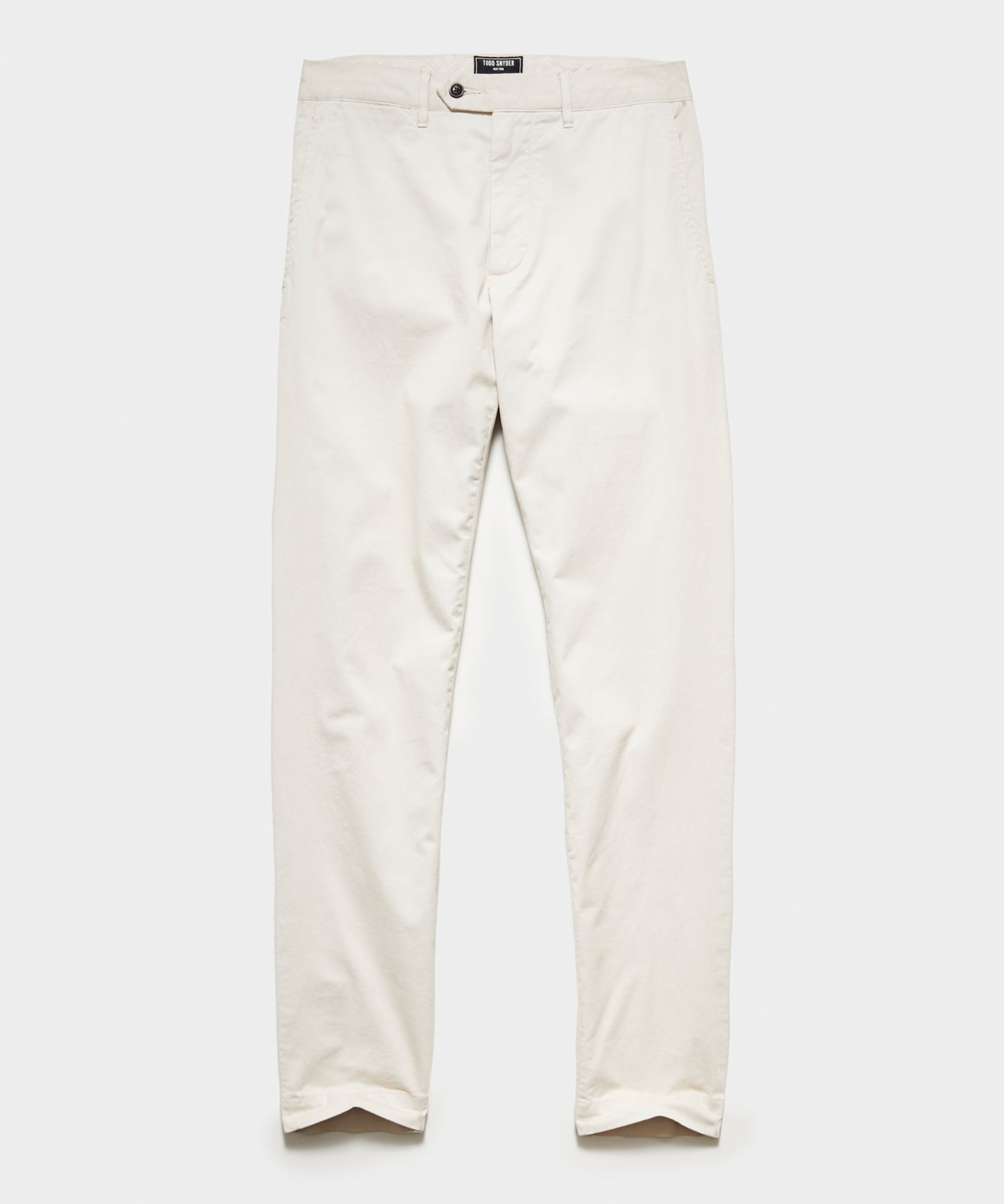 Straight Fit Tab Front Stretch Chino in Bone