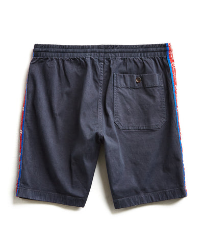 Champion Side Stripe Warm Up Short in Navy