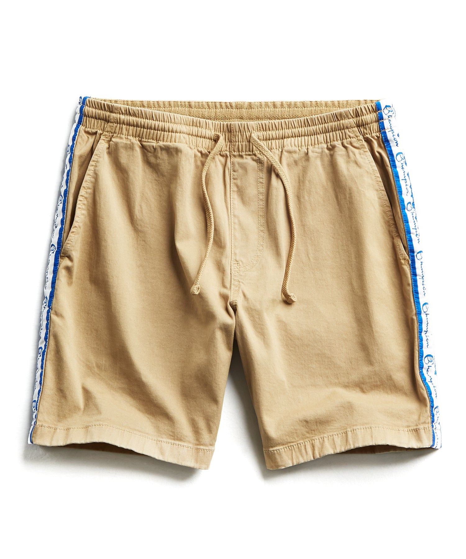 Champion Side Stripe Warm Up Short in Khaki