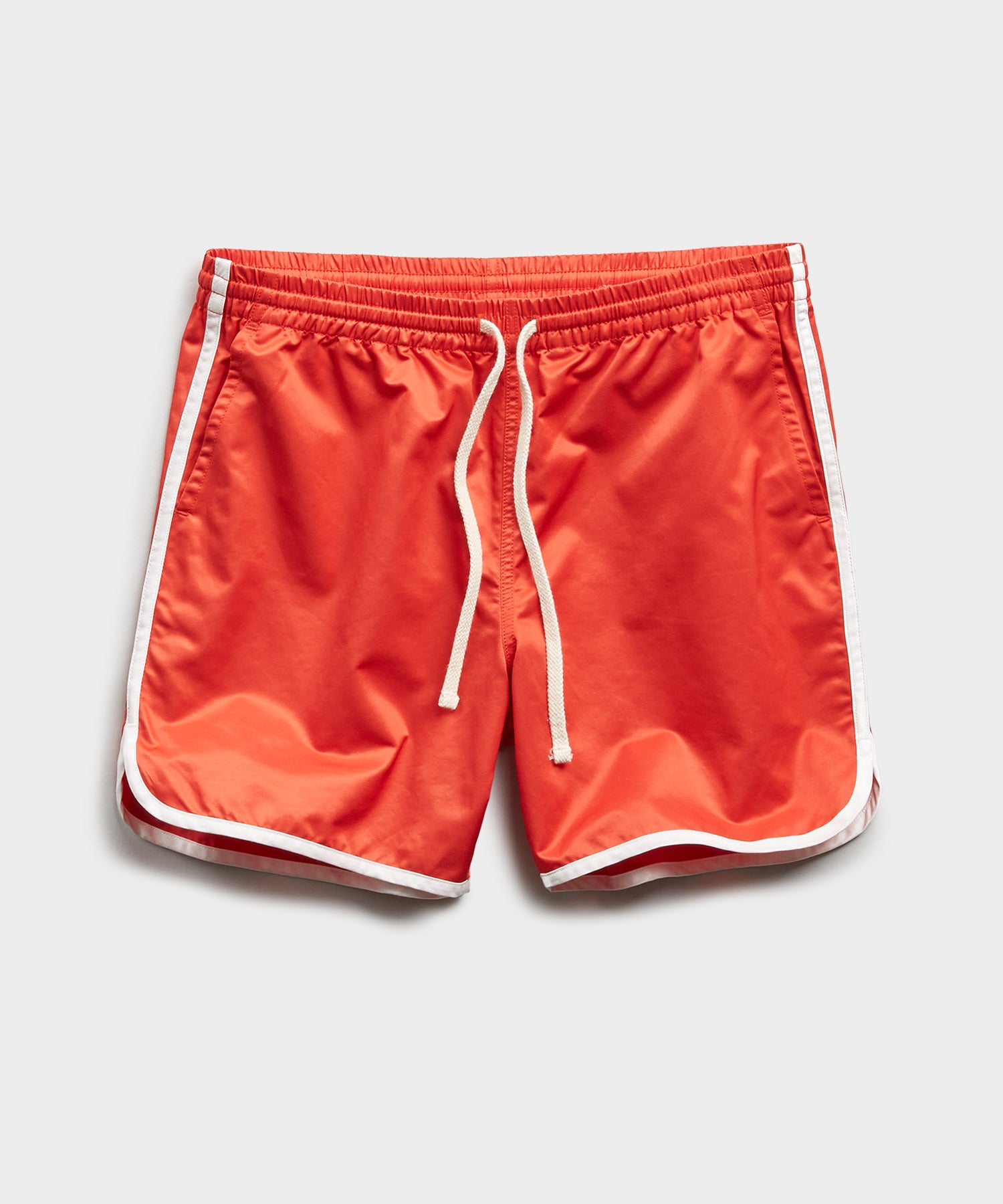 Satin Dolphin Short in Red