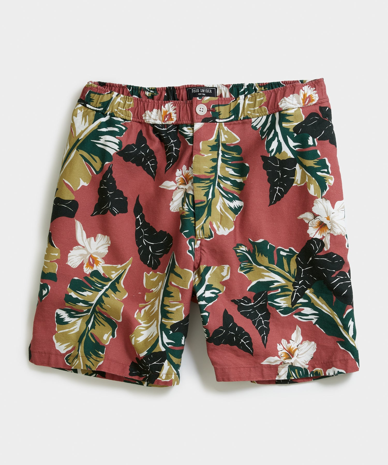"7"" Pool Short in Red Floral"