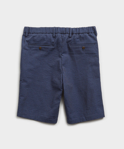 "10"" Seersucker Traveler Short in Navy"