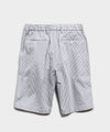 "10"" Seersucker Traveler Short in Blue"