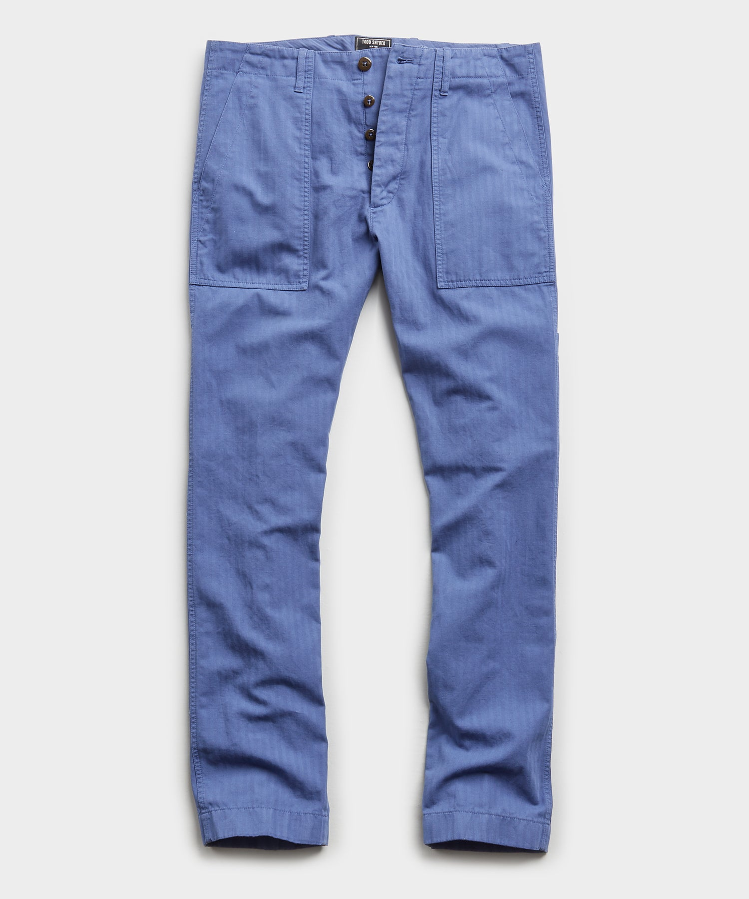 Herringbone Camp Pant in French Blue