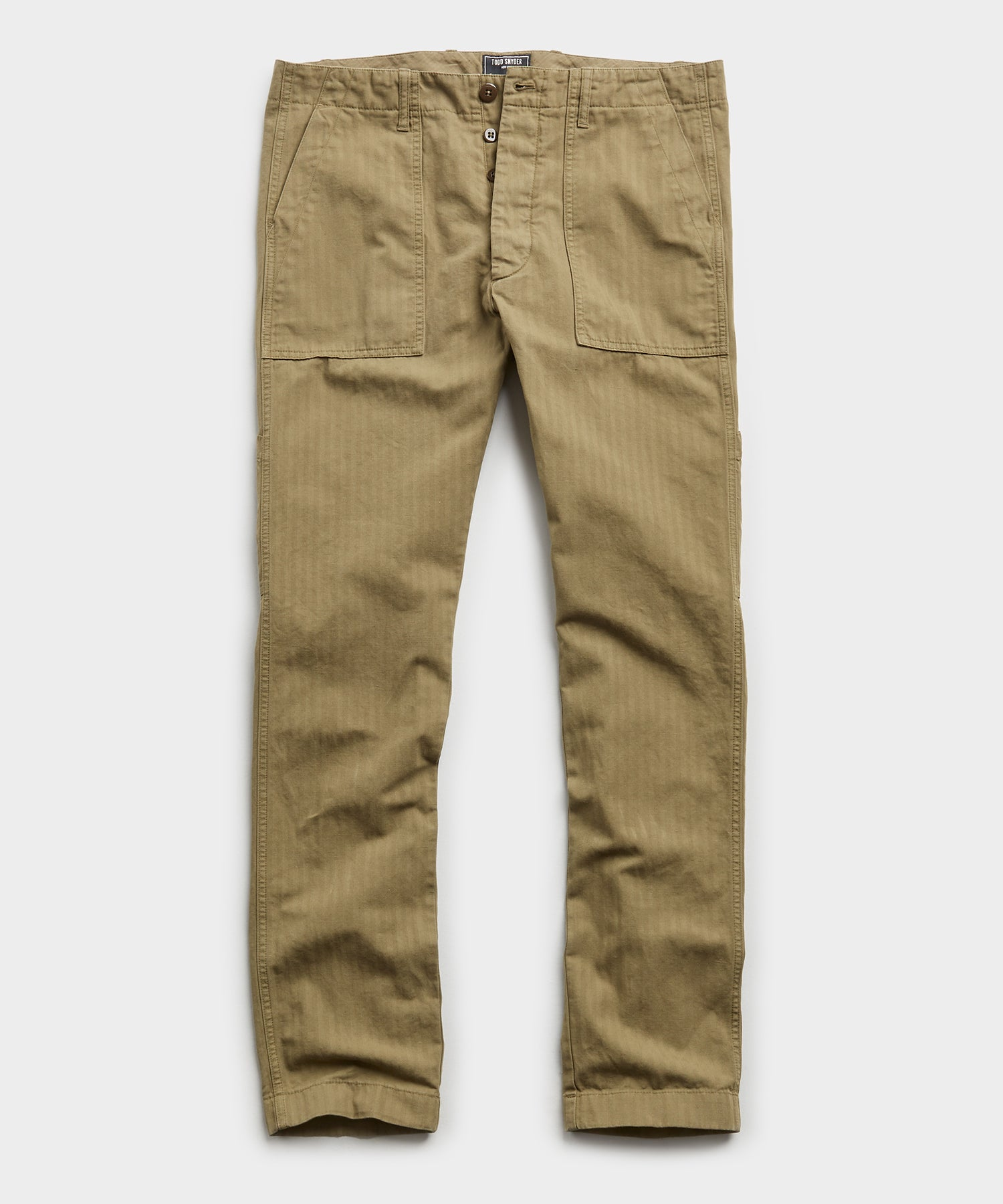 Herringbone Camp Pant in Olive