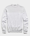 John Smedley Sea Island Cotton Stripped Sweater in Cloud